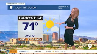Breezy with cooler seasonal temps returning