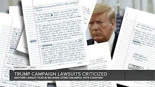 Trump campaign lawsuits criticized by Michigan leaders
