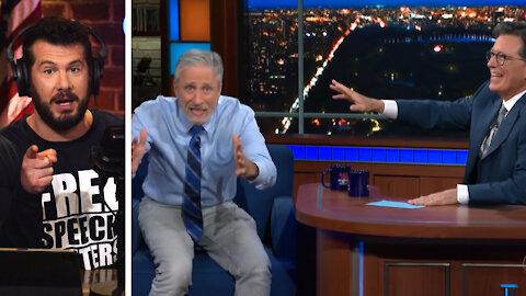 Lab-Leak Theory: BASED Jon Stewart VS COWARDLY Steven Colbert   Louder With Crowder