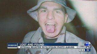 Veteran reunited with stolen photo albums