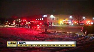 Orotex Corporation fire under investigation in Novi