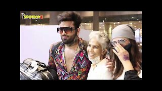 Mahira Sharma Spotted With Paras Chhabra and His Mother at the Airport | SpotboyE