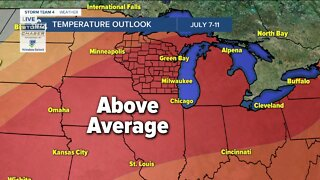 Humidity continues into the holiday weekend