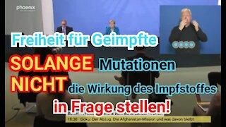 """""""Freiheit"""" für Geimpfte gibt es NUR SO LANGE , BIS ..."""