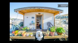 Barge Tiny House Vacation Rental: On Wheels or on the Water?