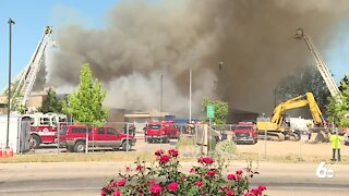 Boise FIre responds to fire at old Valley View Elementary School