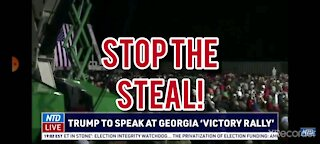 LANDS IN GEORGIA AT STOP THE STEAL RALLY!