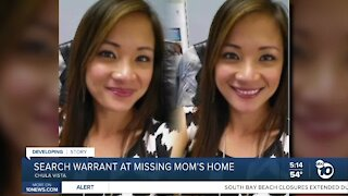 Search warrant at missing mom's home