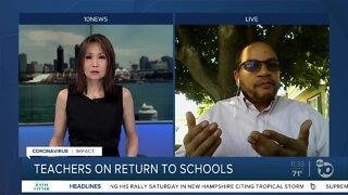 Teachers on the return to schools amid COVID-19