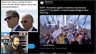 NYT Pulls Cover For Hunter Story After A MASSIVE PROTEST In NYC Chants 'F- Joe Biden!'