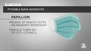 Sarpy County cities voting on mask mandates