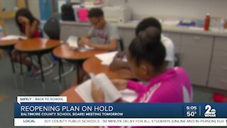 School reopening plan on hold