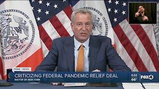 NY Mayor blasts relief bill