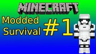 Minecraft Modded Survival Gameplay Episode 1