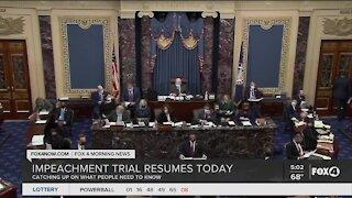 Trump impeachment trial resumes