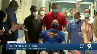 Retired TFD paramedic earns nickname 'Superman' after 4 month battle with COVID-19