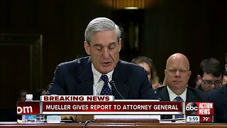 Mueller gives report to Attorney General