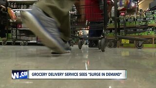 """Grocery delivery service sees """"surge in demand"""""""