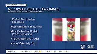 Salmonella risk leads to recall of some McCormick, Frank's RedHot seasonings