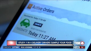 Study: 1 in 4 delivery drivers sample your food
