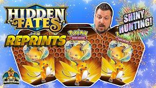 Hidden Fates Reprint Tins | Raichu | Shiny Hunting | Pokemon Cards Opening