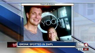 Football legend Gronk visits Southwest Florida yoga studio