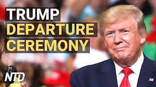 President Donald Trump Departure Ceremony (Jan. 20)   NTD