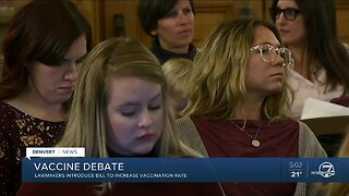 Hundreds show up to speak against vaccine legislation at the Colorado State Capitol