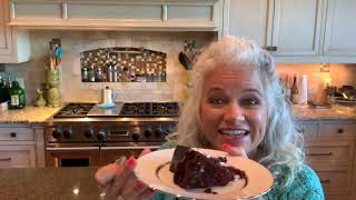 Vegan, Gluten Free, Dairy Free Chocolate Candy Cane Christmas Cake