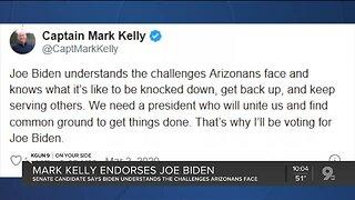 Senate candidate Mark Kelly endorses Joe Biden in Arizona primary