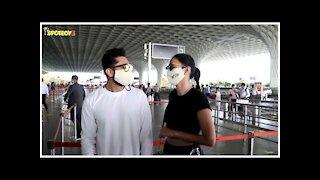 Gauahar Khan-Zaid Darbar Snapped At The Airport Leaving For Delhi