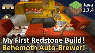 My First Redstone Build! Automatic Brewer, the Behemoth! Minecraft Java 1.7.4