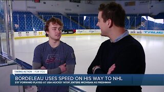 Michigan forward Thomas Bordeleau talks with Brad Galli about NTDP past, NHL future
