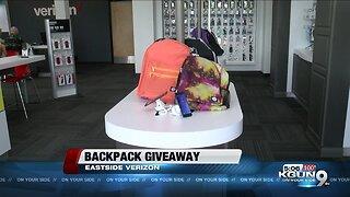 Verizon stores host backpack giveaway