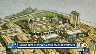 New memos raise questions about stadium plans