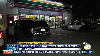 Thief steals thousands of dollars in cigarettes from Linda Vista 7-Eleven