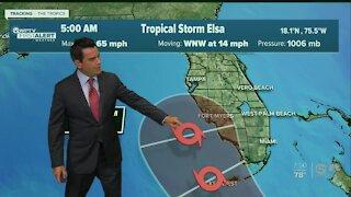 Tropical Storm Elsa update 7/4/21