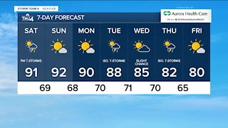 Hot & humid weekend with thunderstorms likely this afternoon