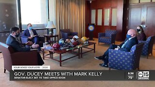Senator-elect Mark Kelly meets with Governor Ducey, discuss issues, COVID the priority