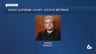 Idaho Supreme Court justice Roger Burdick announces resignation
