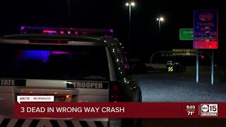 Wrong-way crash leaves 3 dead on Loop 101 Agua Fria