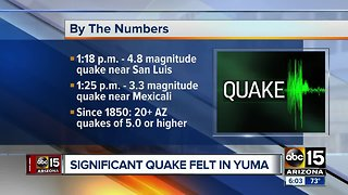Earthquake in Baja California felt in Yuma
