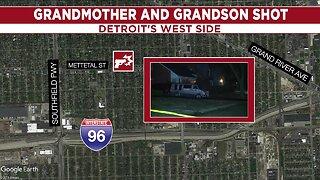 Grandmother, grandson shot on Detroit's west side