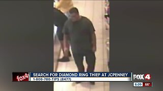 Diamond ring thief south in Fort Myers
