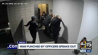 Man punched by Mesa police officers speaks out