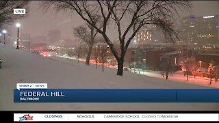 Baltimore City tackles snow storm