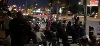 Peaceful demonstration in Las Vegas for George Floyd