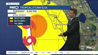 Tropical Storm Elsa 5AM Advisory