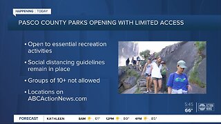 Pasco County reopening some of its parks with limited access