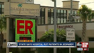 State says hospital put patients in jeopardy